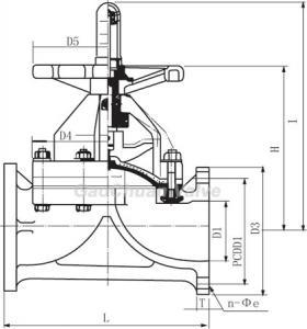 Buy cheap CPVC flange diaphragm valve product