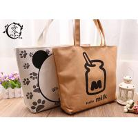 Buy cheap Canvas Simple Design Eco Friendly Bags , Organic Jute Reusable X-Large Grocery Tote Bags product
