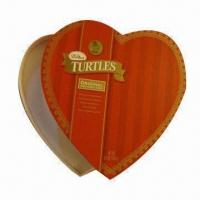 Buy cheap Heart-shaped Handmade Gift Box, Used for Packing, Made of Craft Paper and Cardboard product