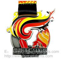 China Hollow metal kids championship medals with ribbon, ribbon metal prize medals, wholesale