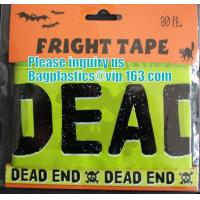 Buy cheap Rolls Halloween Caution Party Tape,Party halloween banner , plastic streamer caution party tape, fright tape bagease product
