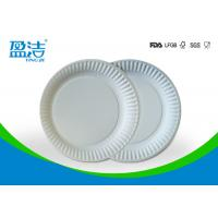 Small Size Bulk Paper Plates , Plain White Paper Plates Without Printing for sale