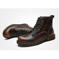 Buy cheap Cowhide Oil Leather Lace Up Ankle Boots , Doc Martin Mens Boots EU 35-44 Size product