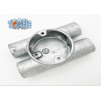 Buy cheap Durable Gi Conduit Accessories BS4568 Circular Malleable Twin Through - H Way Box product