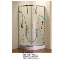 Buy cheap Curved Corner Shower Enclosure , Colorful Glass Luxury Bathroom Shower Stalls product