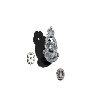 Buy cheap Die Cut Metal Hat Badge 3D Shoulder Chest Pin Badge product