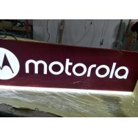Buy cheap Motorola Rectangular Shaped Sign Double Sides For Cellpone Store Custom Size product