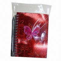 Buy cheap Uniqure Sprial Notebook with Ball Pen, Measures 10 x 15cm product