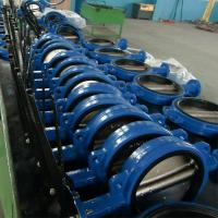 Buy cheap Lugged Ductile Iron DI CI GGG40 EPDM/PTFE Center Lined Body LINED BUTTERFLY VALVE Gear product