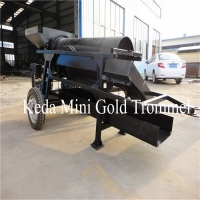 Buy cheap 115CBM/H Small Scale Gold Wash Plants Processing 85kw Steel Rotary Movable product
