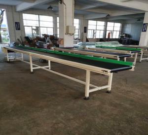 Buy cheap CE Small Conveyor Belt System , Machine Conveyor Systems With Grey PVC Belt Conveyor product