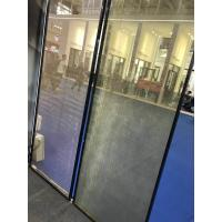 China SGP Laminated Glass Partition With Metal Coated Polyester Mesh Fabric on sale