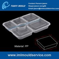 Buy cheap disposable easylunchboxes 6-compartment thin wall food containers mould with a clear lid product