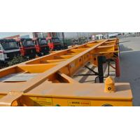 China 40ft Container Skeleton Semi Trailer Flatbed Tractor Trailer 40000kg Loading Capacity on sale