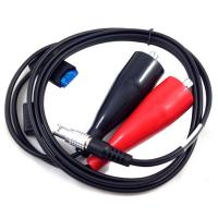 China Red And Black Head 5 Pin Power Cable , Leica Total Station Cable For Sr530 on sale
