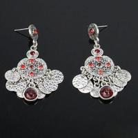 Buy cheap Drop Earrings in Fashionable Design, Decorated with Zinc-alloy and Czech Stone product