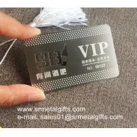 China Etching steel VIP member cards, Custom photo etching metal name cards wholesale