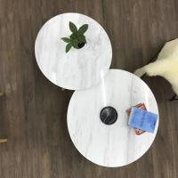Buy cheap Living Room Round Dining Tabletops Marble Stone Countertops With Metal Base product