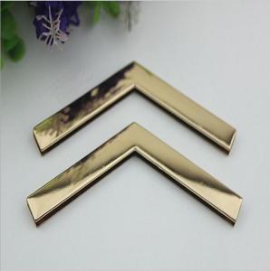 Buy cheap Factory direct sales iron material 105 mm length golden handbag corner protectors for box product