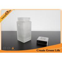 China Small Glass Sauce Bottles Wholesale , 100ml Square Spice Glasss Bottle with Metal Shaker Lid on sale