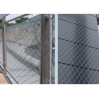 Buy cheap Size Customized Ferrule Wire Rope Mesh , Lightweight Stainless Steel Webnet product