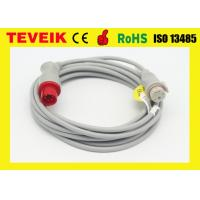 China Round 6 Pin IBP Cable 12 Feet / Reusable Medical Electrodes For Patient Monitor wholesale