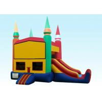 Buy cheap 22Ft Rainbow Module Castle Inflatable Bouncer Combo With Digital Printing product