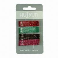Buy cheap Hair Clips with Painting, Available in Various Designs and Colors, Made of Metal product