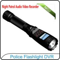 Buy cheap 1080P Police Flashlight DVR On-site Enforcement Audio Recorder Night Patrol Video Camera product