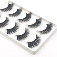 Buy cheap Thick 3d Fake Eyelashes Strip Real Mink Lashes 3D Crisscross Style product