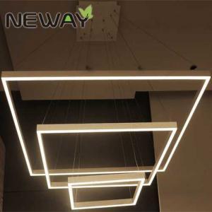 Buy cheap Square LED Modern Pendant Light 300x300 500x500 700x700 1000x1000mm Square LED Light Fixture Crystal Pendant Light product
