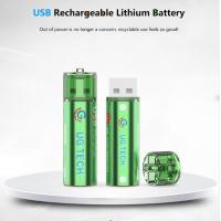 China China wholesale 1.5V 1000mAh AA USB type lithium ion battery replace for alkaline batteries on sale