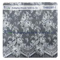 China Light Two-tones Colors Polyester & Nylon Chantilly Lace for Wedding & garment dress on sale