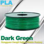 Buy cheap OEM Biodegradable PLA  1.75 / 3.0 mm 3D Printer Filaments ( Dark Green ) product