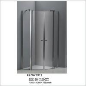 Buy cheap Corner Tempered Pivot Glass Shower Doors , Sector Shower Screen 900*1850mm product