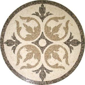 Buy cheap Solid Surface Marble Medallion Floor Tile , Decorative Custom Floor Medallions product