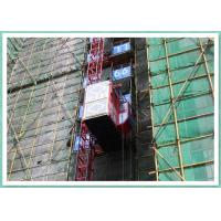Double Cabin Rack And Pinion Construction Hoist For Passenger / Material