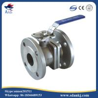 Buy cheap 2 Pcs Flange connection type Stainless Steel Ball Valve for hot water WCB DN50 PN16 ANSI DIN JIS product