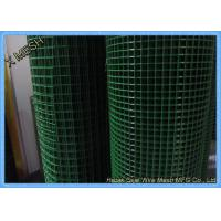 Welded pvc coated wire mesh panels roll rectangular hole