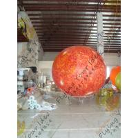Quality 2.5m helium PVC Fireproof with B1 Certificate and Waterproof Sun Earth Balloons Globe with Total Digital Printing for sale