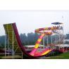 Swimming Pool Water Slide / Aqua Theme Park Equipment Boomerang Water Slide for sale