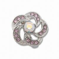 Buy cheap Ring with CZ Rhinestone, Made of Alloy, OEM Orders are Welcome, Can Make Mold product