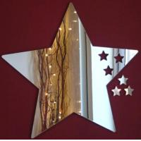 Buy cheap Five-pointed Star Shape Acrylic Mirror Sheets With Excellent Service product