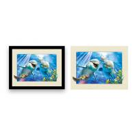 Buy cheap Home Decoration 3D Lenticular Printing Service 12x16 Inch Framed Dolphin Picture Wall Arts product