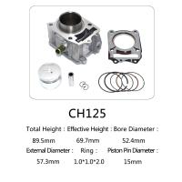 Buy cheap CH 125 Honda 125cc Water Cooled Cylinder Kit For Motorcycle Engine Parts product