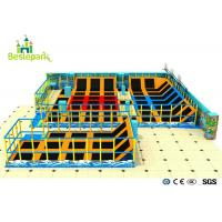 Buy cheap Customized Design Colorful Indoor Trampoline Park Jump Bed For Gym Club product