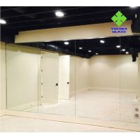 Buy cheap Safety Silver Wall Mirror , Full Wall Dance Wall Mirrors Customized Size product