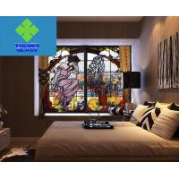 Buy cheap Multi Colored Tiffany Style Glass , Stained Glass Window Panels 3mm Thickness product