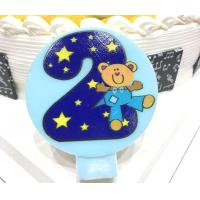 Buy cheap Cute Round Shape Number Printable Birthday Candles For Cake Decorating No Smoking product