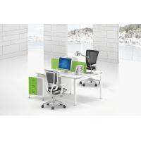 Buy cheap Modular  produce 2 person cluster withe office desk face to face site melamine wooden top  green screen product